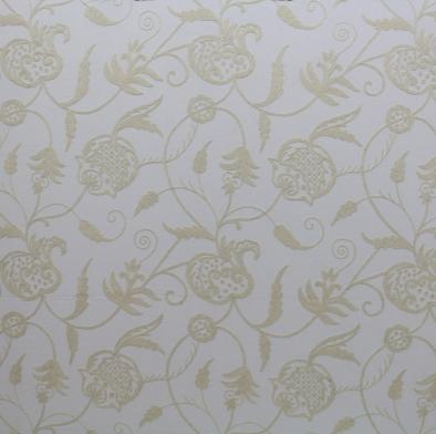 Cream on off White Crewel Fabric