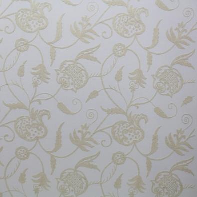 Cream on off White Crewel Fabric-1