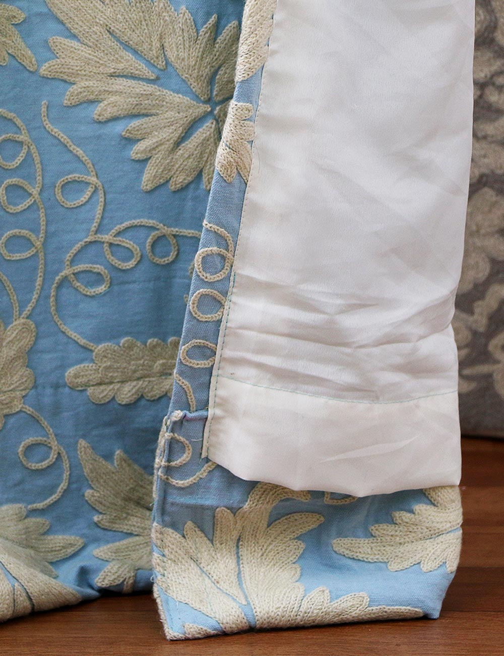 Chinar Crewel Curtain Panel And Drapes Hand Embroidered