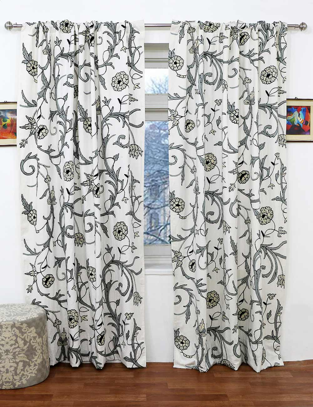Cotton Curtain Panels Image Is Loading Home Fashions